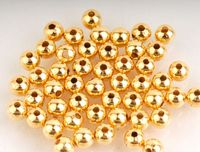 50 x Gold Plated 3.2mm Spacer Beads